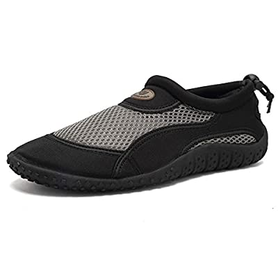 CIOR Men and Women Aqua Shoes Quick Drying Water Sports Shoes for Beach Pool Boating Swim Surf,HQ01,bkgy-42