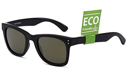 CAXMAN Unisex's Classic Mirrored Wayfarer Sunglasses TR90 Unbreakable Frame for Men Women, Black Frame Light Gold Mirror Revo Lens, - Gold Sunglasses Frame Wayfarer