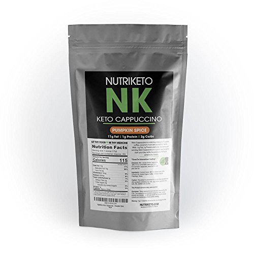 NutriKeto Keto Cappuccino - Pumpkin Spice - Low Carb/High Fat (LCHF) - Ketogenic Diet - 30 Servings