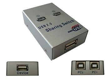 Kalea Informatique - Dispositivo multipuerto (metálico, USB 2.0 automático / Switch 2 puertos, compatible con impresoras): Amazon.es: Electrónica