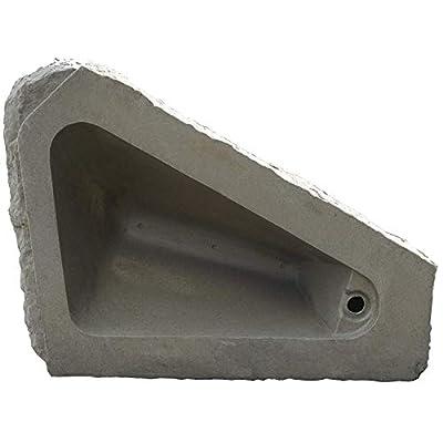 RTS Home Accents Right Triangle Armor Stone Landscape Rock, Gray, 35
