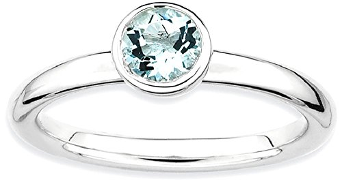 Gold Aquamarine Birthstone Ring - 3
