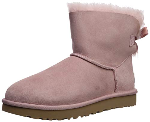 UGG Women's Mini Bailey Bow II Fashion Boot, Pink Crystal, 6 M US (Bow Uggs Bailey Women)