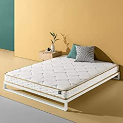 Enjoy the comfort of the new biofusion memory foam Hybrid spring mattress by Zinus. This innovative mattress features a fiber-quilted cover, biofoam memory foam comfort layer, and coil Springs. Please open your mattress package within 72 hour...