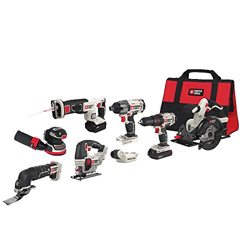 (PORTER-CABLE PCCK6118 20V MAX Lithium Ion 8-Tool Combo Kit )