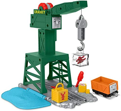 Fisher-Price Thomas & Friends TrackMaster Cranky The Crane Train Playset For Preschool Kids Ages 3 Years And Older