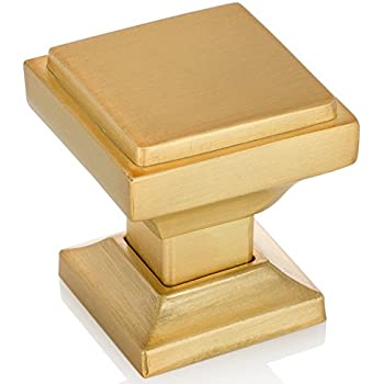 Great Southern Hills Satin Gold Square Cabinet Knobs   Pack Of 5, Kitchen Cabinet  Knobs,