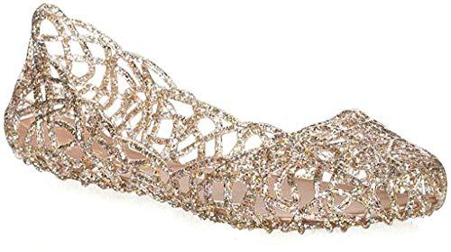 Major-Q Glaze Layered Lines Jelly Ballet Flats Clear  9 B(M) US