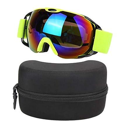 657c4d8e58c Amazon.com  Taco Mocho Unisex Double Lens UV400 Big Ski Mask Glasses Skiing  Goggles Anti-Fog Ski Snowboard Snowboarding Winter Ice Snow Sports Eyewear   ...