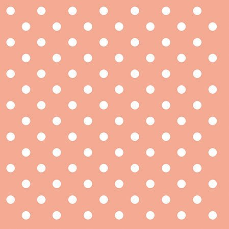 Peach Paper Polka Dot Luncheon Napkins Pack of 20 ()