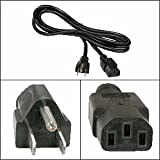 InstallerParts 5 Ft Computer Power Cord 5-15P to C-13 Black SVT 18/3