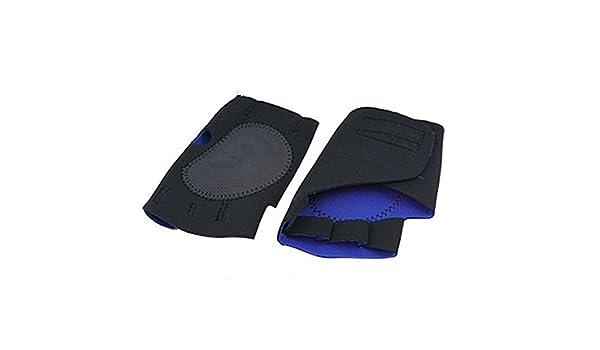 Amazon.com: eDealMax Negro Azul sin dedos Guantes de deportes de ciclo antideslizante L: Health & Personal Care