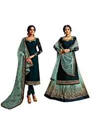 STELLACOUTURE Eid Special Ethnic wear Indian/Pakistani Salwar Kameez with Lehenga Suit for Women 3005