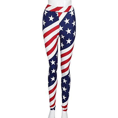 ,Bandera americana de las mujeres que imprime pantalones el/ásticos de la fuerza el/ástica de la fuerza de Paige Pantalones de yoga Zarup/♥/♥/♥