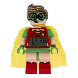 LEGO Batman Movie 9009358 Robin Kids Minifigure Alarm Clock | red/green | plastic | 9.5 inches tall | LCD display | boy girl | official