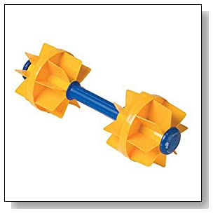 Kiefer Water Workout Dumbbells with 6-Inch Diameter Floats, Medium Resistance (1-Pair), Yellow