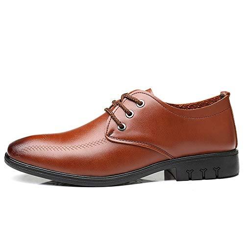 Papel Jialun Cordones Zapatos De Para Marrón Hombre shoes rIqI41