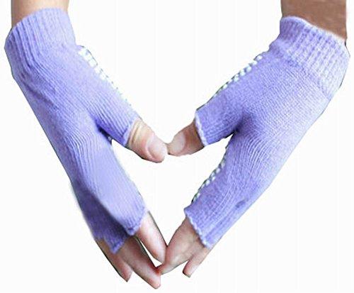 女性のヨガの手袋実用的なノンスリップの漫画の手袋、紫