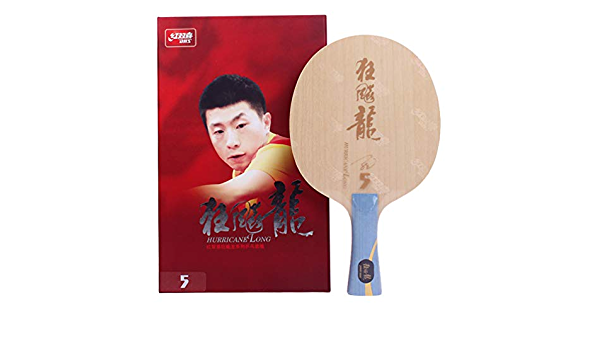 Blue and Orange Sponge NEO Hurricane 3 Provincial Table Tennis Rubber with Ma Long Autograph Card Professional Assembled DHS Hurricane Long 5 Racket Blade