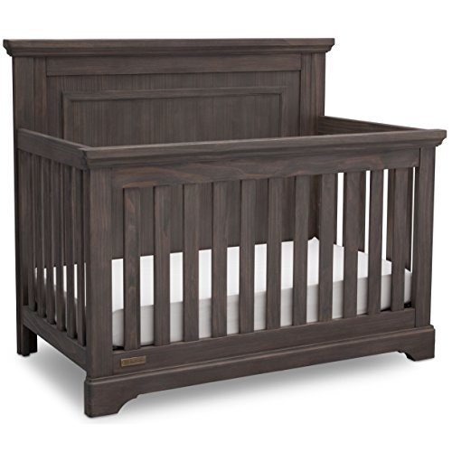 (Simmons Kids SlumberTime Paloma 4-in-1 Convertible Baby Crib, Rustic Grey)