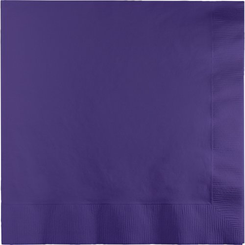 250-Count Touch of Color 3-Ply Paper Dinner Napkins, Purple ()
