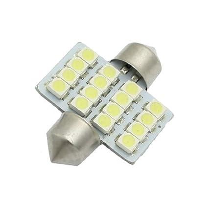 eDealMax 12V blancos 1,25 31mm 16-SMD Luces DE3175 DE3022 bombillas LED Para