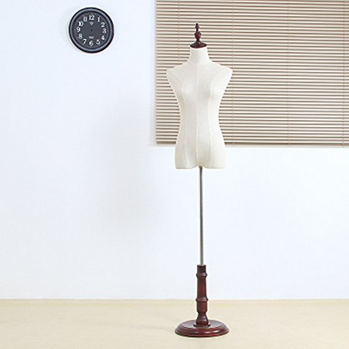 BEIYANG Female Mannequin Torso Dress Form Display Stand Designer Pattern (Retro, M) by BEIYANG
