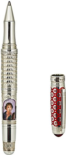 Chopard Pompei 925 Sterling Silver with Red Carnelian Gemstone Luxury Rollerball Pen Fine Writing - High End Professional Modern Ballpoint Pen Fine Point - Elegant Extra Fine Office Ball Pen for Men (Parker Pen And Stylus)