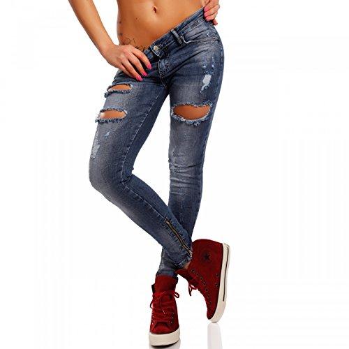Jeans Donna Young Basic Attillata fashion Blau qBwIxwO5