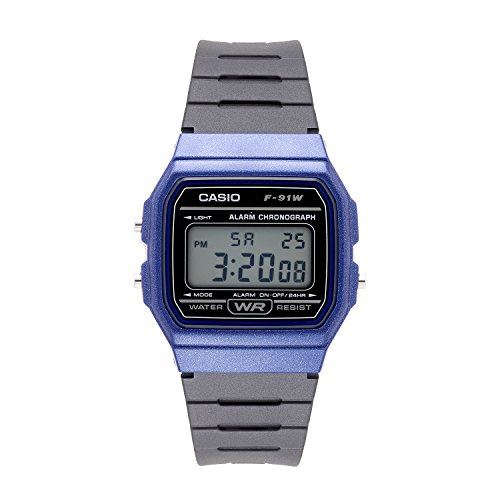 Casio Men's 'Vintage' Quartz Plastic and Resin Casual Watch, Color:Black (Model: F-91WM-2ACF)