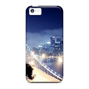 Cute Appearance Cover/tpu PBBIGYY3039hwyln Bridge Lights Case For Iphone 5c by icecream design