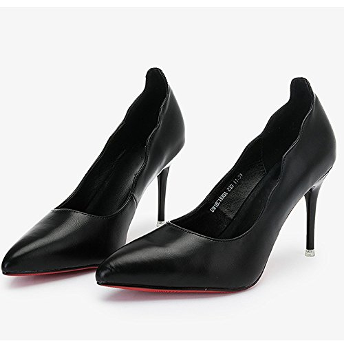 34 Femme WeddingDUSTO Talons Noir Sexy Nightclub EU Cour Travail Hauts UK 9cm Chaussures Party Black 2 Chaussures Mode rwZrq