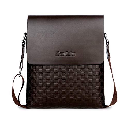 Alena Culian Business Man Bag Classic Plaid Design Men Messenger Bag Shoulder ()