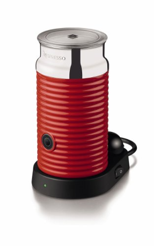 Nespresso 3194-Us-Re Aeroccino and Milk Frother, Red
