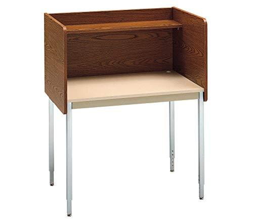 Wood & Style Furniture Single Modular Carrel Medium Oak/Sand Premium Office Home Durable Strong