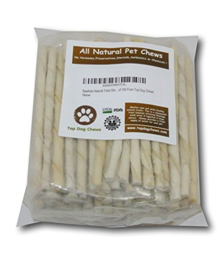 Rawhide-Natural-Twist-Sticks-Pack-of-100-From-Top-Dog-Chews-Regular