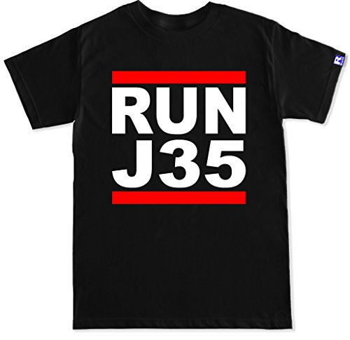FTD Apparel Men's Run J35 T Shirt - XXL Black