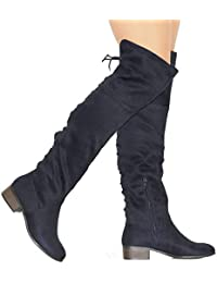 Womens Knee-high Faux Leather - Comfortable Fashion Boots