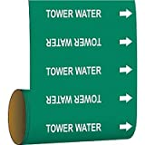 Brady Pipe Marker Tower Water Green