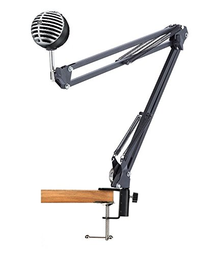 Amazoncom Desk Clamp Mount Suspension Boom Arm Swivel Stand - Desk boom mic stand