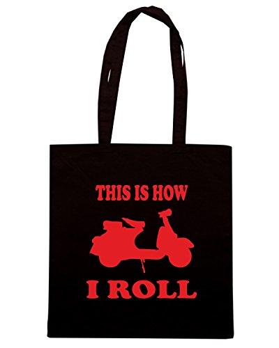T-Shirtshock - Bolsa para la compra OLDENG00589 mopedscooter Negro