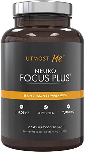 Brain Vitamins, Natural Nootropic Supplement - Focus, Concentration, Memory...