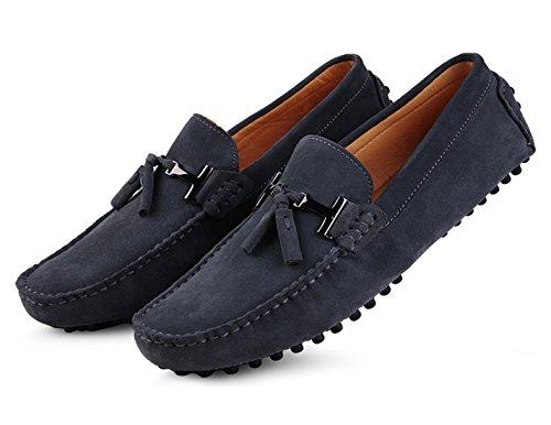 Leder Fahren Grau Halbschuhe Hausschuhe Bummler Santimon Schuhe Casual Quaste Herren Slipper Business Mokassins 07qqSxzw