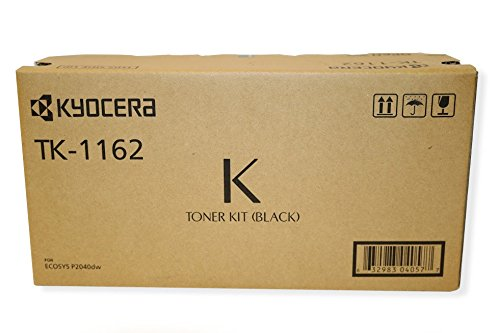 Kyocera 1T02RY0US0 Model TK-1162 Toner Kit for Ecosys P2040dw, Genuine Kyocera, Up To 7200 Pages