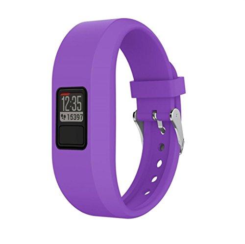 Kanzd colorful Silicone Replacement Strap Accessory Wristbands For Garmin Vivofit 3 (Purple)