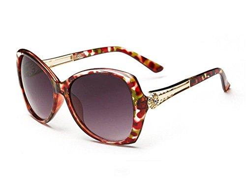 féminins grand longues Les visage Fleur lunettes modèles de Rouge élégantes soleil CHshop Point de EHSCwUqq