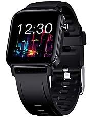 Taotique Smart Watch Fitness Tracker para teléfonos Android y iPhone IP68 resistente al agua, podómetro, reloj inteligente con frecuencia cardíaca y monitor de sueño, pantalla táctil de 1,4 pulgadas, contador de pasos para mujeres y hombres
