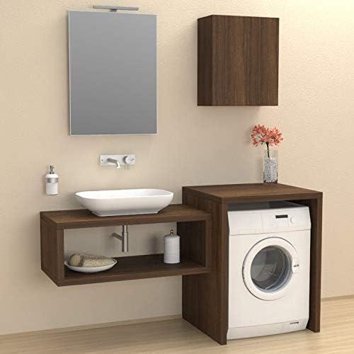 VE.CA. mueble de baño cubrelavadora de estocolmo, hecho de madera ...