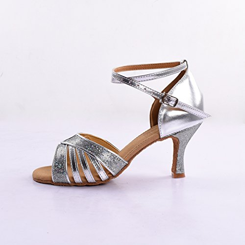 Kevin Fashion ,  Damen Tanzschuhe , Silber - silber - Größe: 36.5