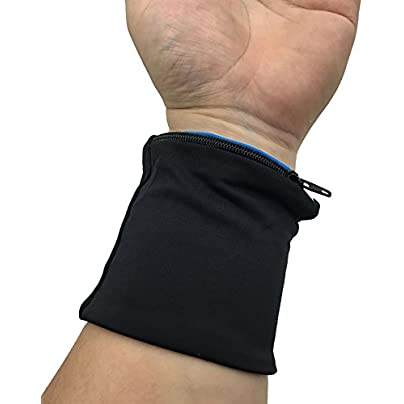 GFULLOV Elastic Zipper Design Wrist Support Bag Wrap Fitness Cycling Sport Wristband New Estimated Price £2.59 -